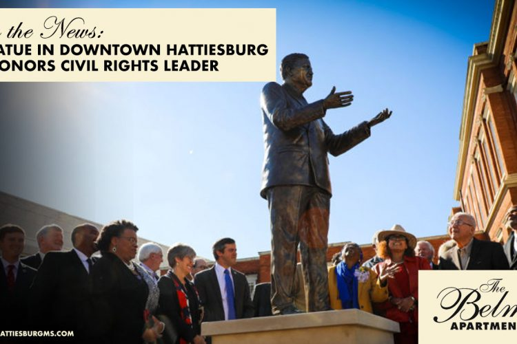 In the News: New Statue in Downtown Hattiesburg Honors Civil Rights Leader