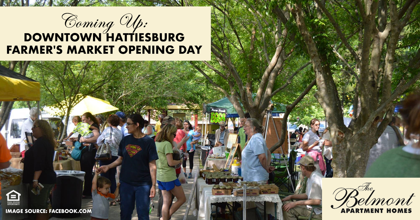 Coming Up: Downtown Hattiesburg Farmer's Market Opening Day